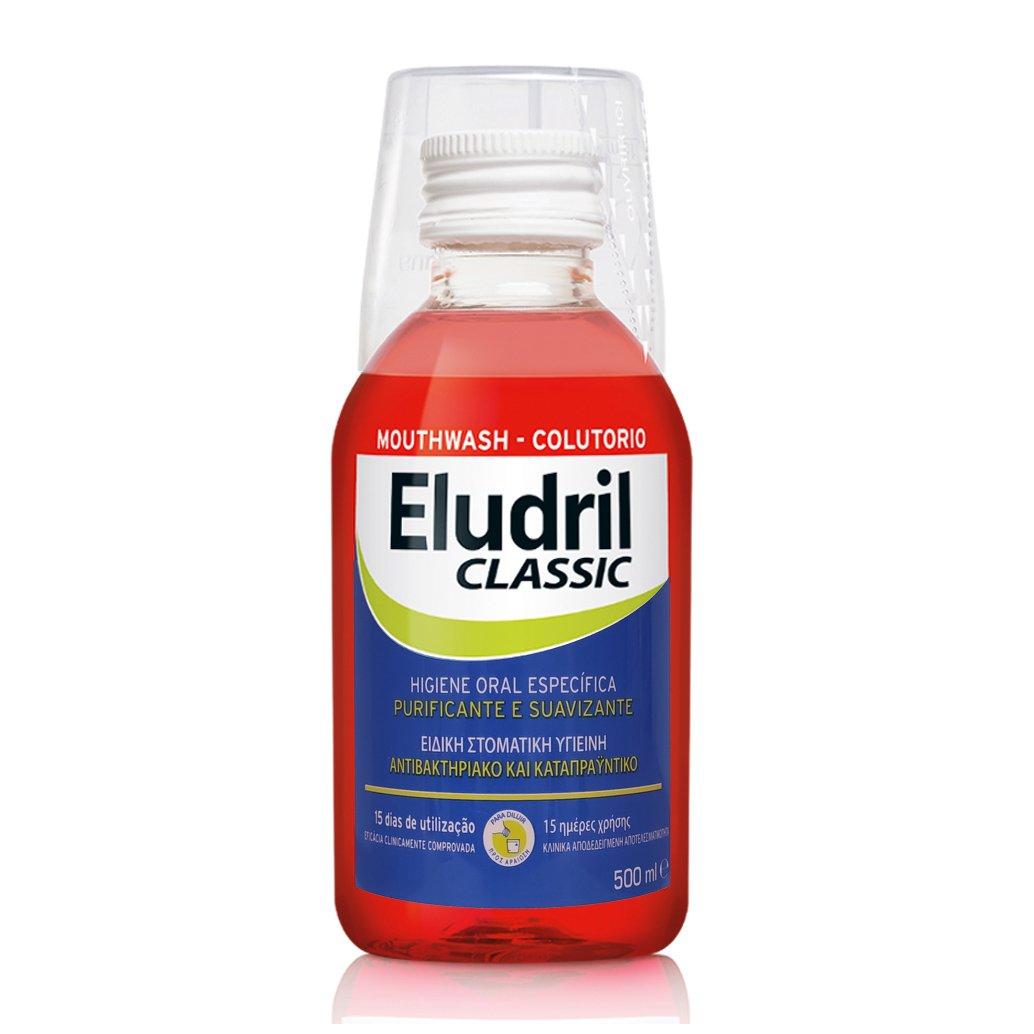 Eludril Classic Υγρό Διάλυμα για Στοματικές Πλύσεις, Εξυγιαντικό, Καταπραϋντικό 500ml