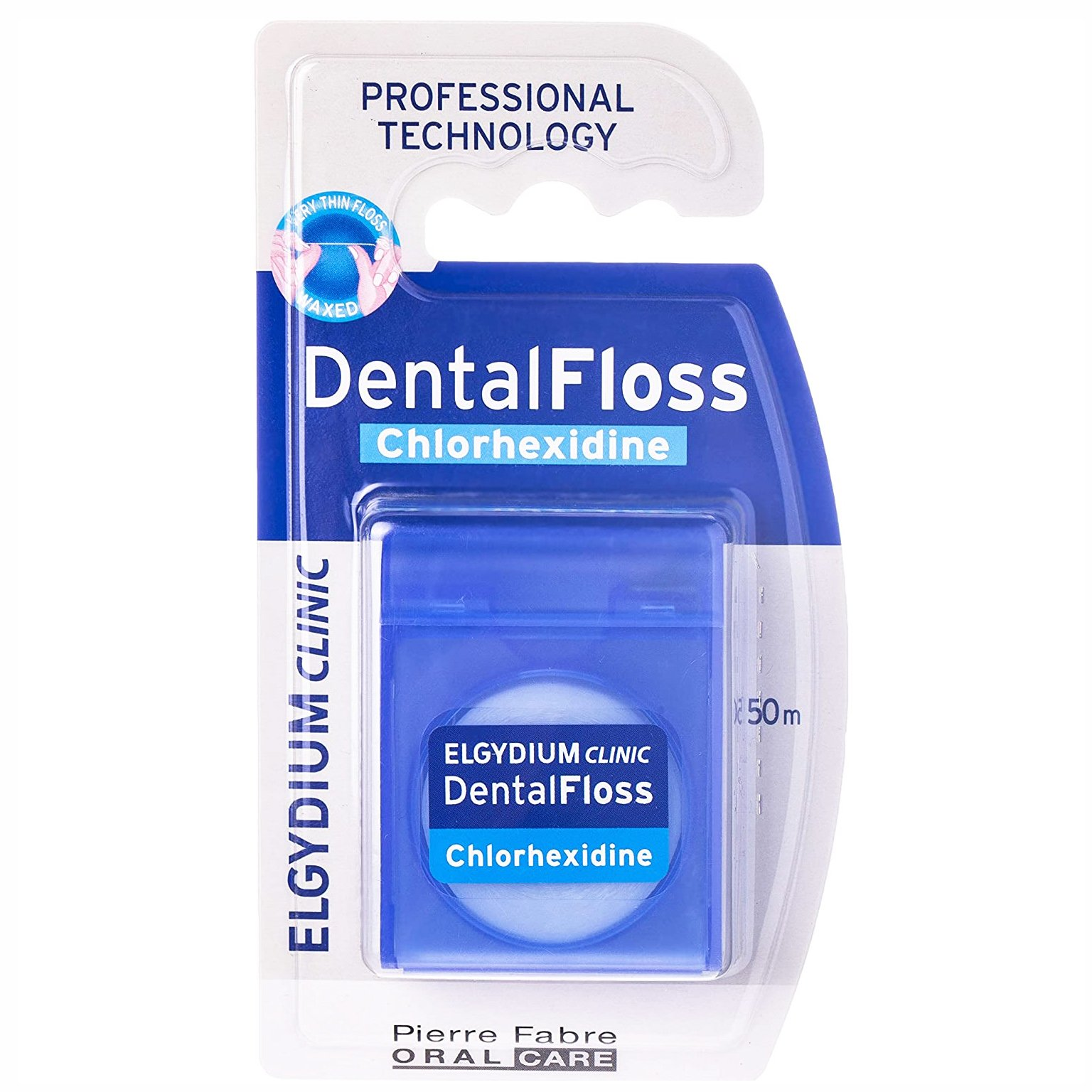 Elgydium Clinic Dental Floss Chlorhexidine Οδοντικό Νήμα με Χλωρεξιδίνη για Μείωση του Σχηματισμού της Οδοντικής Πλάκας 50m
