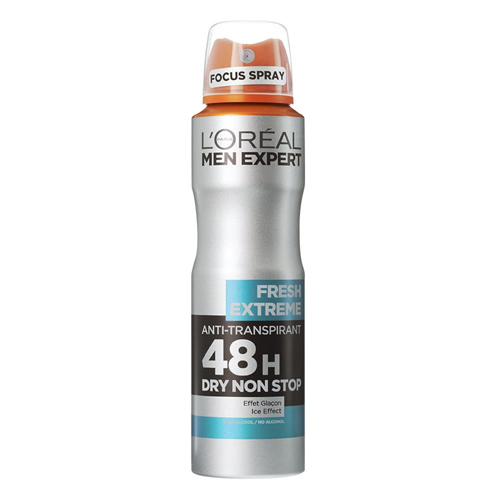 L'oreal Paris Men Expert Fresh Extreme Spray Ανδρικό Αποσμητικό Spray με 48ωρη Ολική Προστασία για Στεγνή Επιδερμίδα 150ml