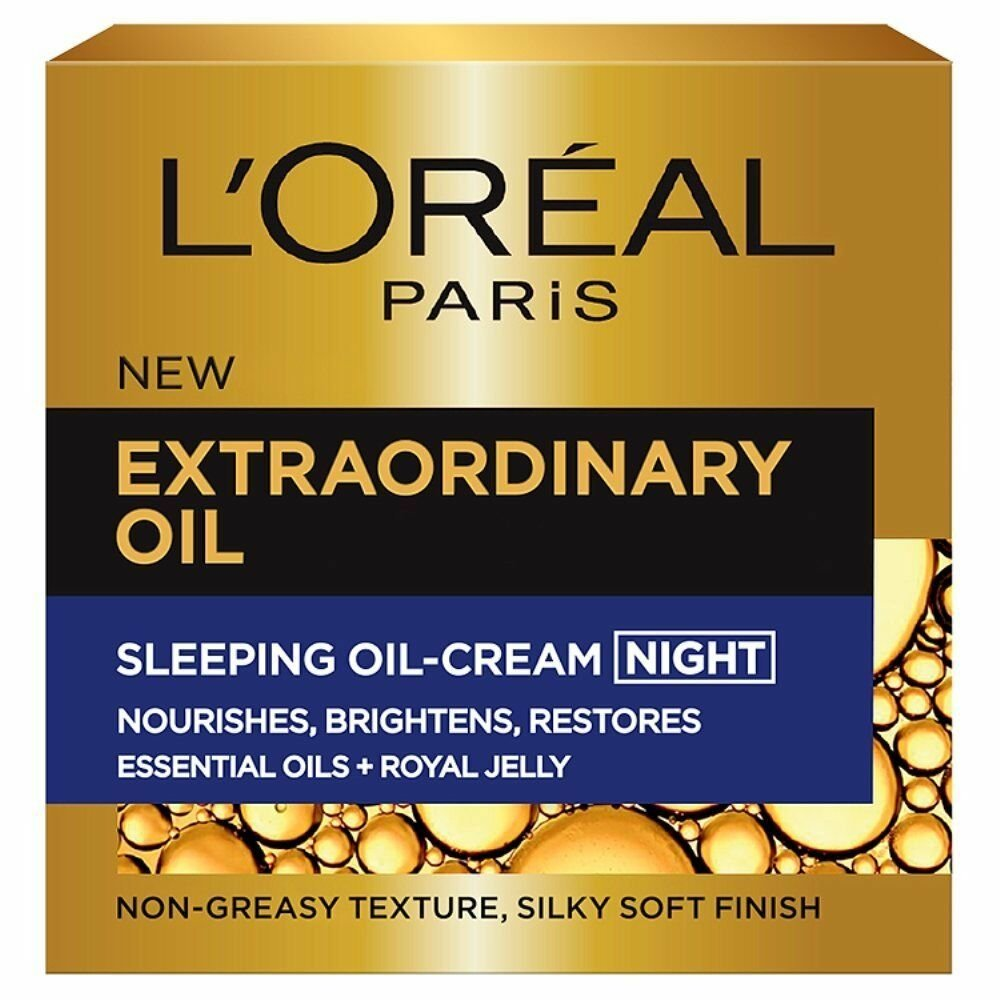 LOréal Paris Extraordinary Oil Sleeping Cream Κρέμα-Μάσκα Νύχτας 50ml