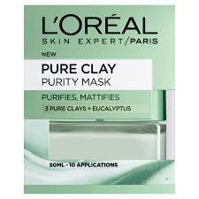 L'oreal Paris Pure Clay Purity Mask Μάσκα Αργίλου για Καθαρισμό & Ματ Όψη 50ml