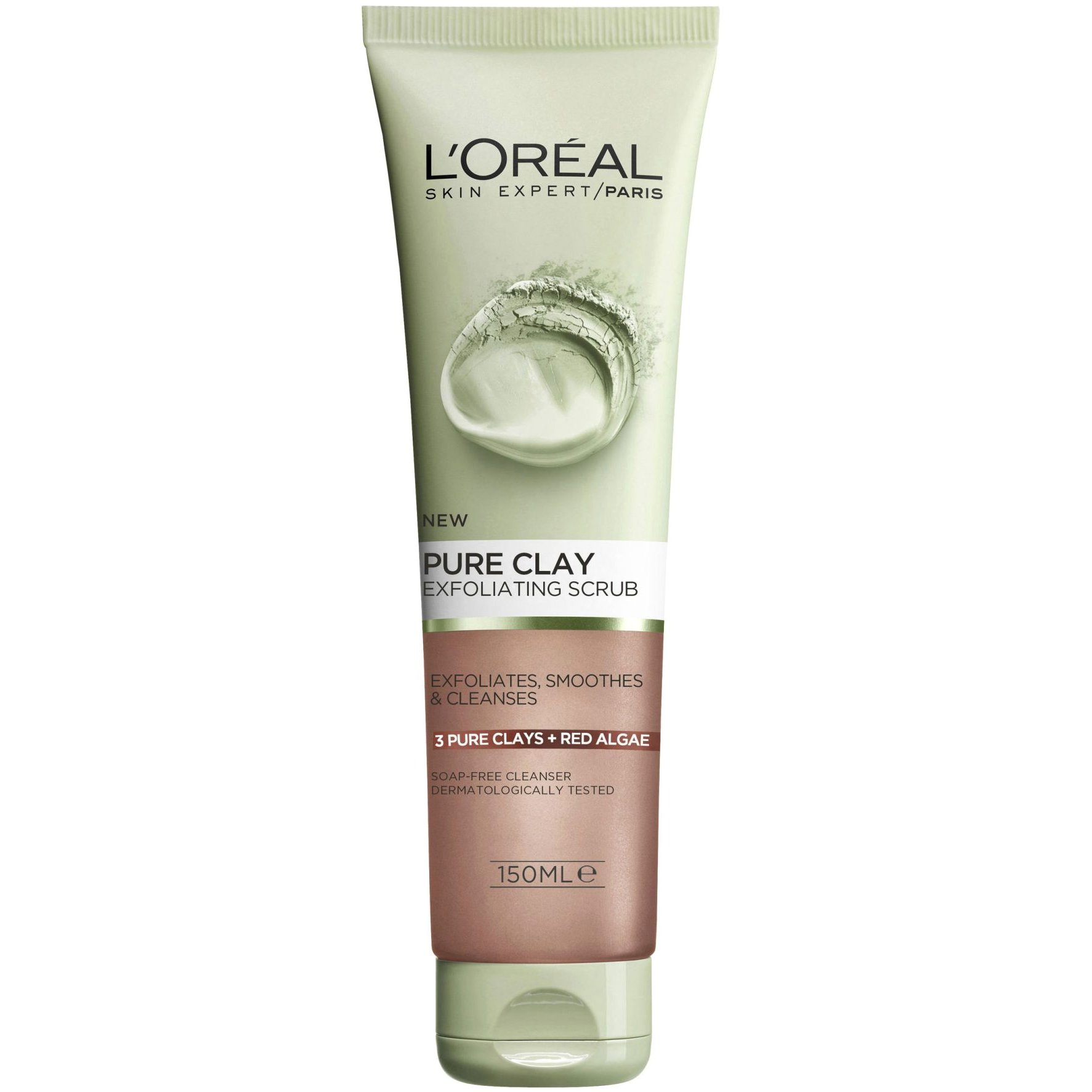 L'oreal Paris Pure Clay Gel Glow Scrub Τζελ Καθαρισμού με Άργιλο για Απολέπιση 150ml