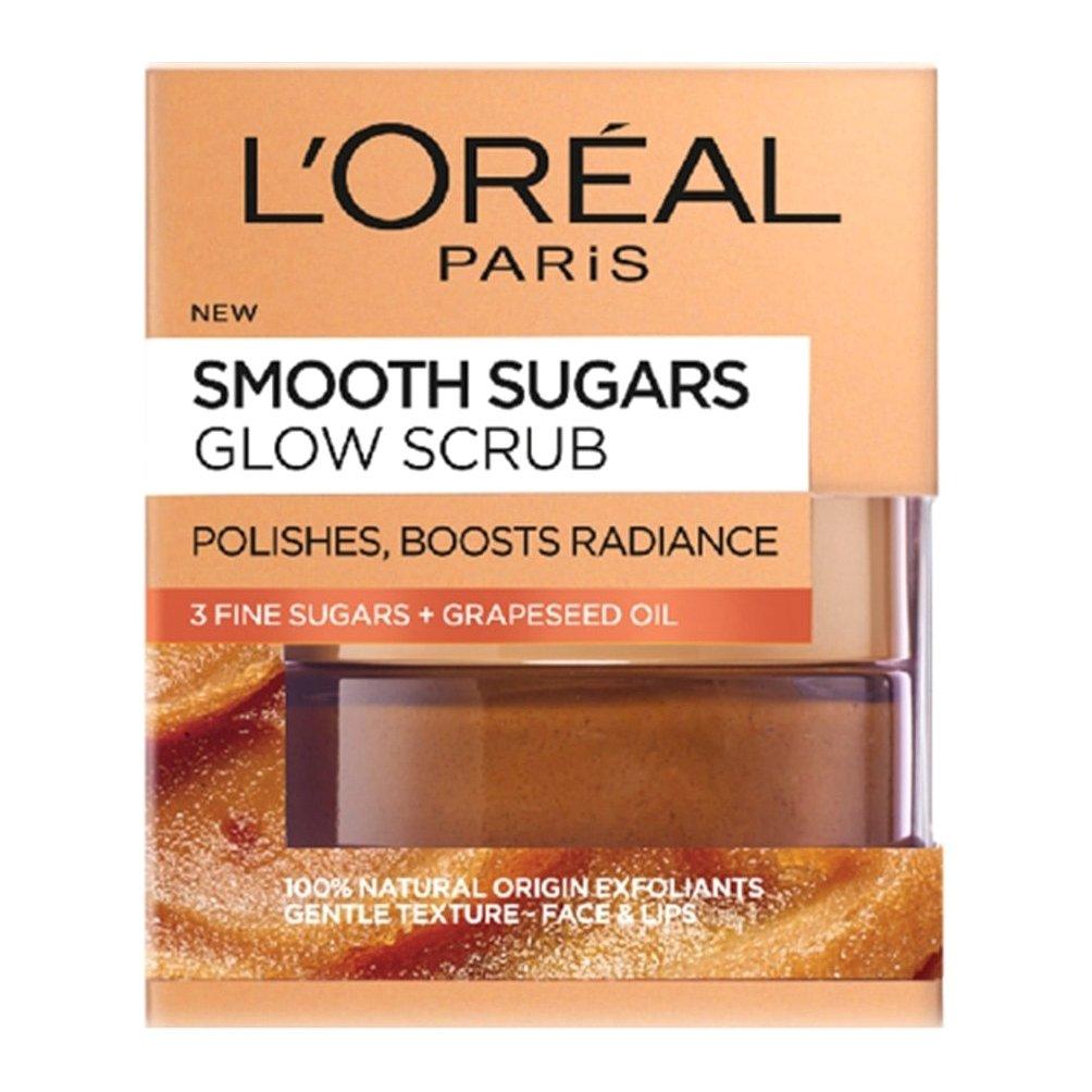 L'oreal Paris Smooth Sugars Glow Scrub για Λαμπερή & Απαλή Επιδερμίδα 50ml