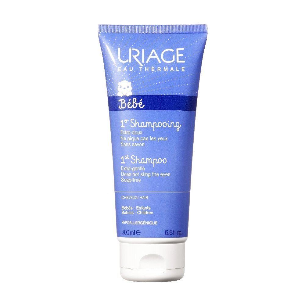 Uriage Eau Thermale Bebe 1st Shampoo Αφήνει τα Μαλλιά των Βρεφών Απαλά Λαμπερά και με Ευχάριστο Άρωμα 200ml