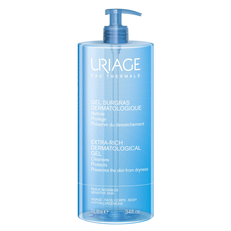 Uriage Eau Thermale Extra Rich Dermatological Gel Καθαρίζει και Προσφέρει Αίσθηση Άνεσης 1lt