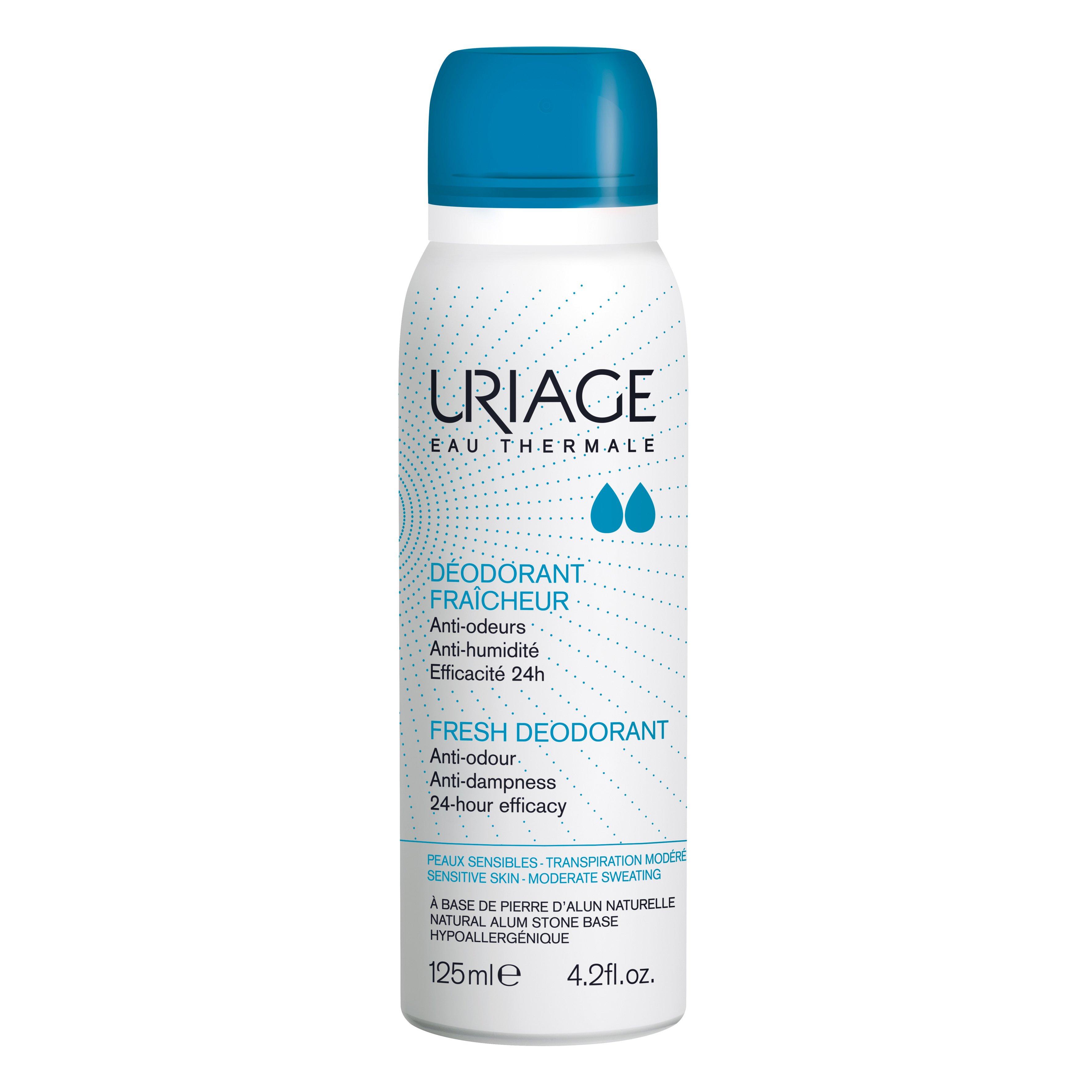Uriage Eau Thermale Fresh Deodorant Προσφέρει Διπλή 24ωρη Δράση Ενάντια στις Οσμές και την Εφίδρωση 125ml