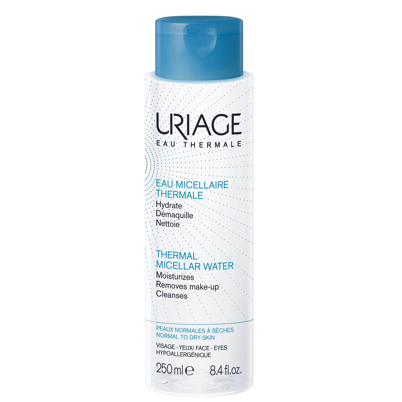 Uriage Eau Thermal Micellar Water Αφαιρεί Τέλεια το Μακιγιάζ για Κανονικές προς Ξηρές Επιδερμίδες 250ml