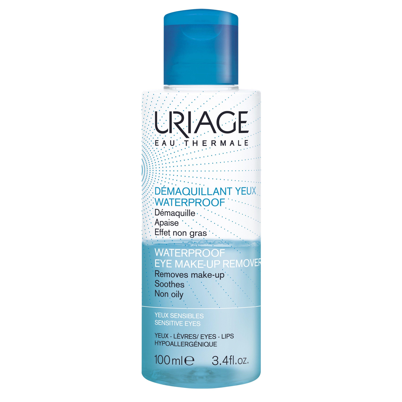 Uriage Eau Thermale Waterproof Eye Make-Up Remover Αφαιρεί Γρήγορα Ακόμα και το πιο Επίμονο Μακιγιάζ 100ml