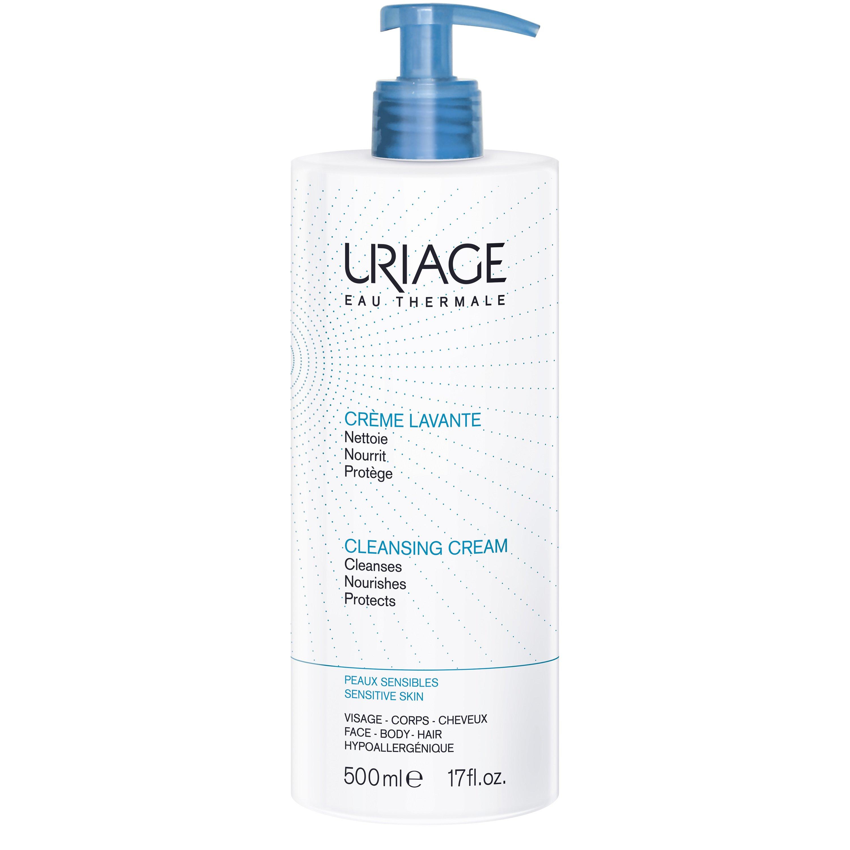 Uriage Eau Thermale Cleansing Cream Αφήνει το Δέρμα Απόλυτα Καθαρό Απαλό και Ενυδατωμένο 500ml