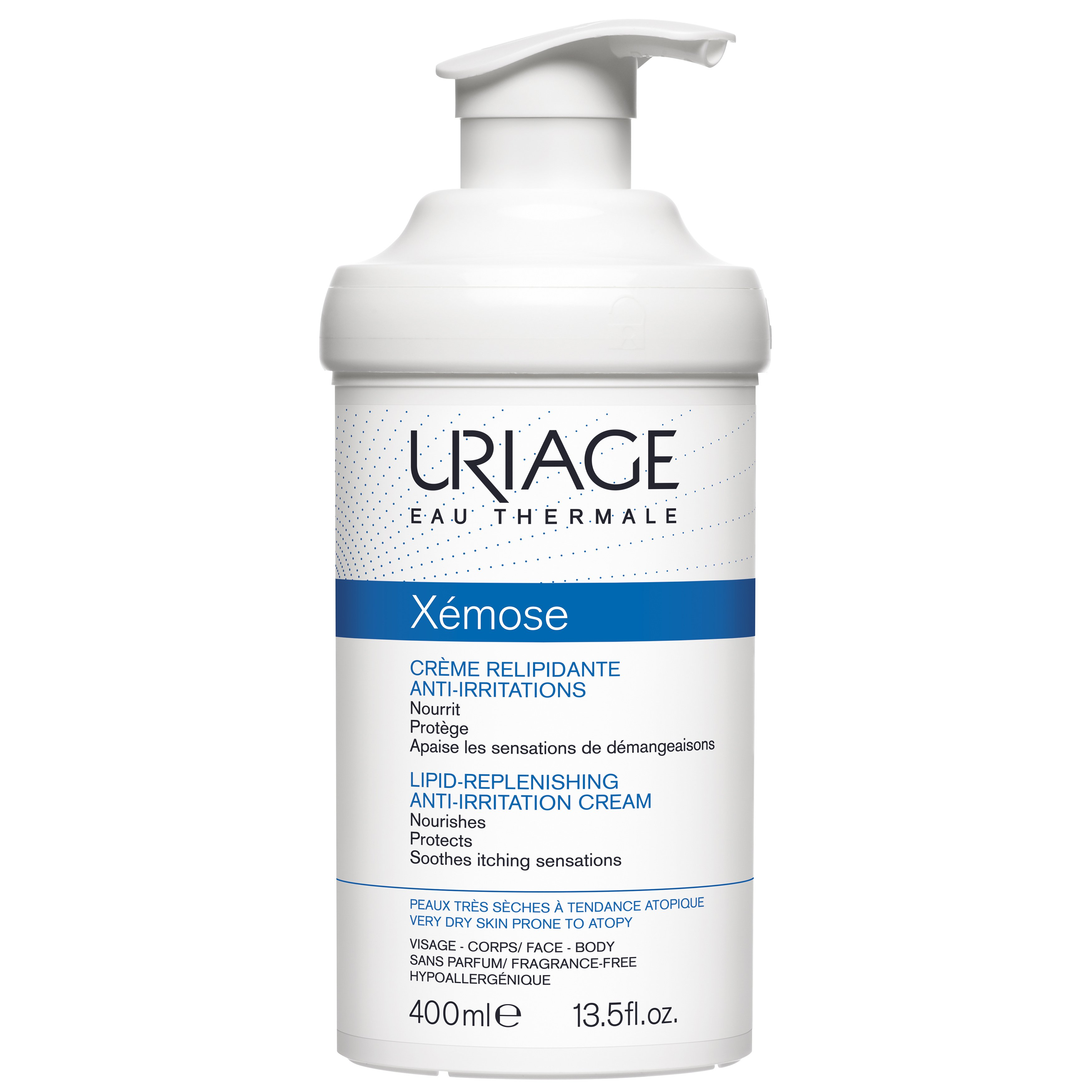 Uriage Eau Thermale Xemose Lipid Replenishing Anti Irritation Cream Καταπραΰνει Αμέσως την Αίσθηση Κνησμού 400ml