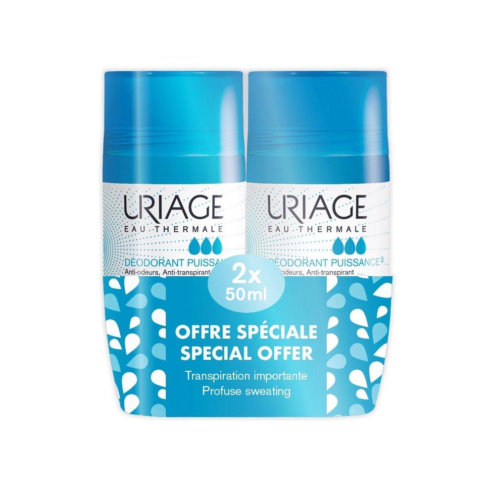 Uriage Eau Thermale Power 3 Deodorant Προσφέρει Αποτελεσματική Δράση Ενάντια στην Εφίδρωση και Καταπολεμά τις Οσμές 2x50ml