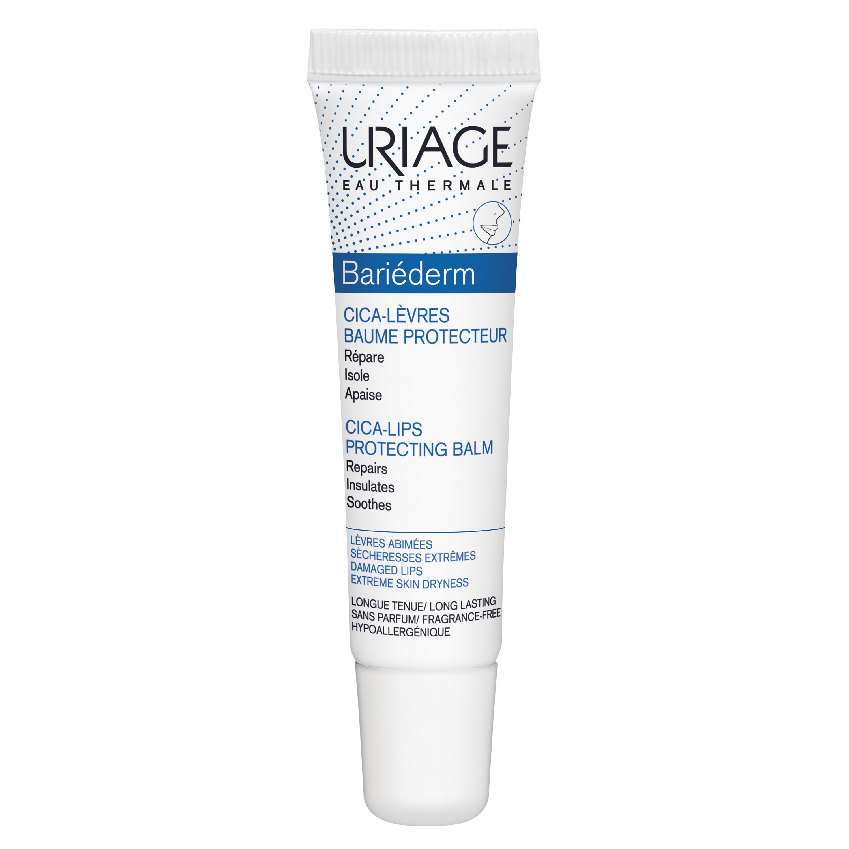 Uriage Eau Thermale Bariederm Cica Lips Protecting Balm Προστατευτικό Χειλιών που Προσφέρει Τριπλή Δράση 15ml