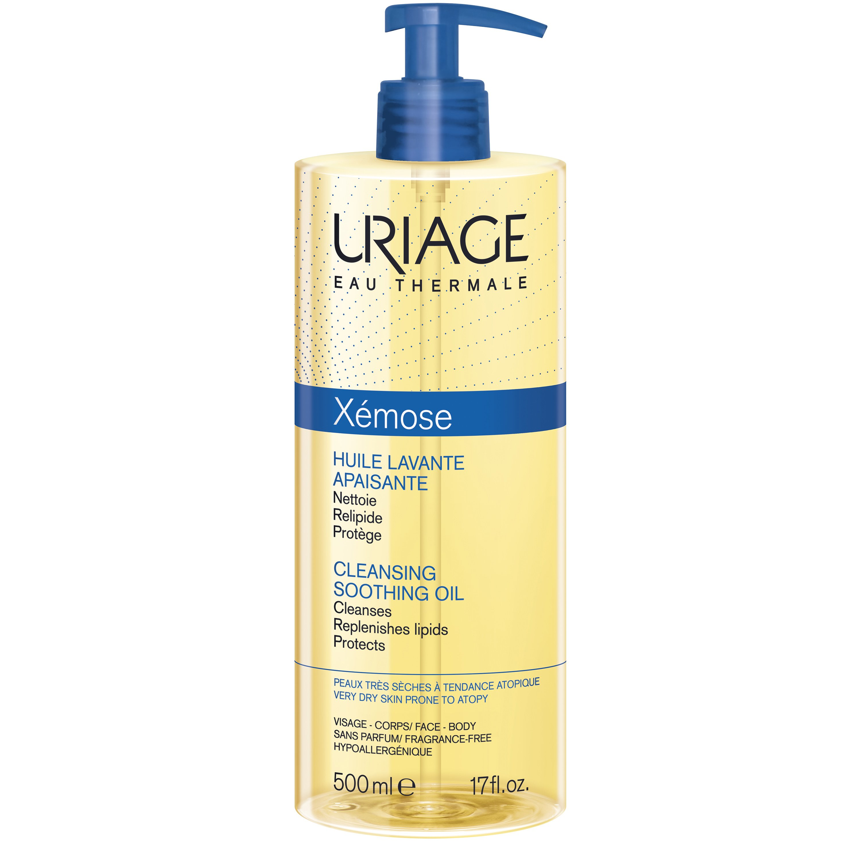 Uriage Eau Thermale Xemose Cleansing Soothing Oil Προστατεύει Από την Ξηρότητα και Καταπραΰνει την Αίσθηση Κνησμού 500ml