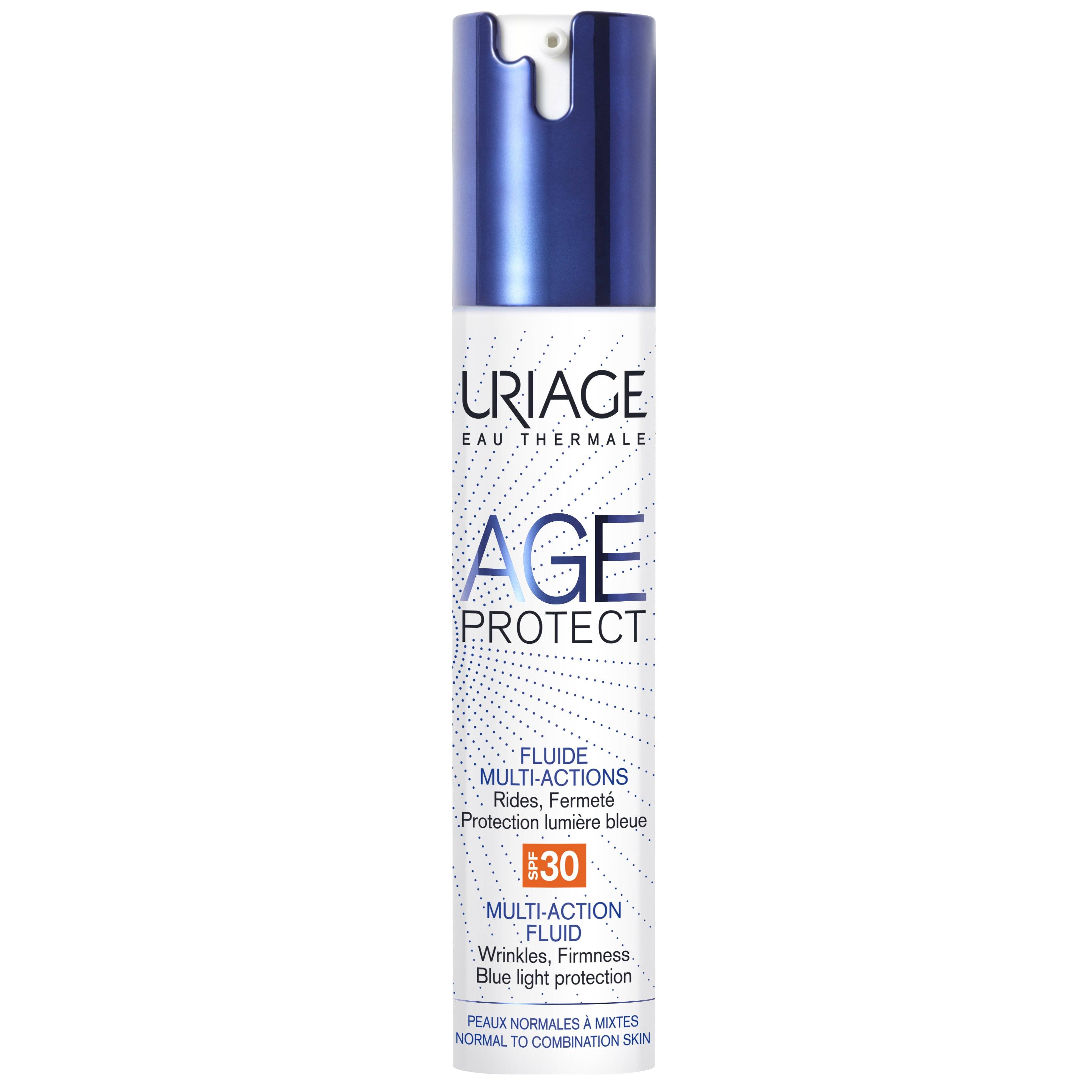 Uriage Eau Thermale Age Protect Multi-Action Fluid Spf30 Αντιγηραντική Λεπτόρρευστη Φροντίδα, Κανονικές Μικτές Επιδερμίδες 40ml