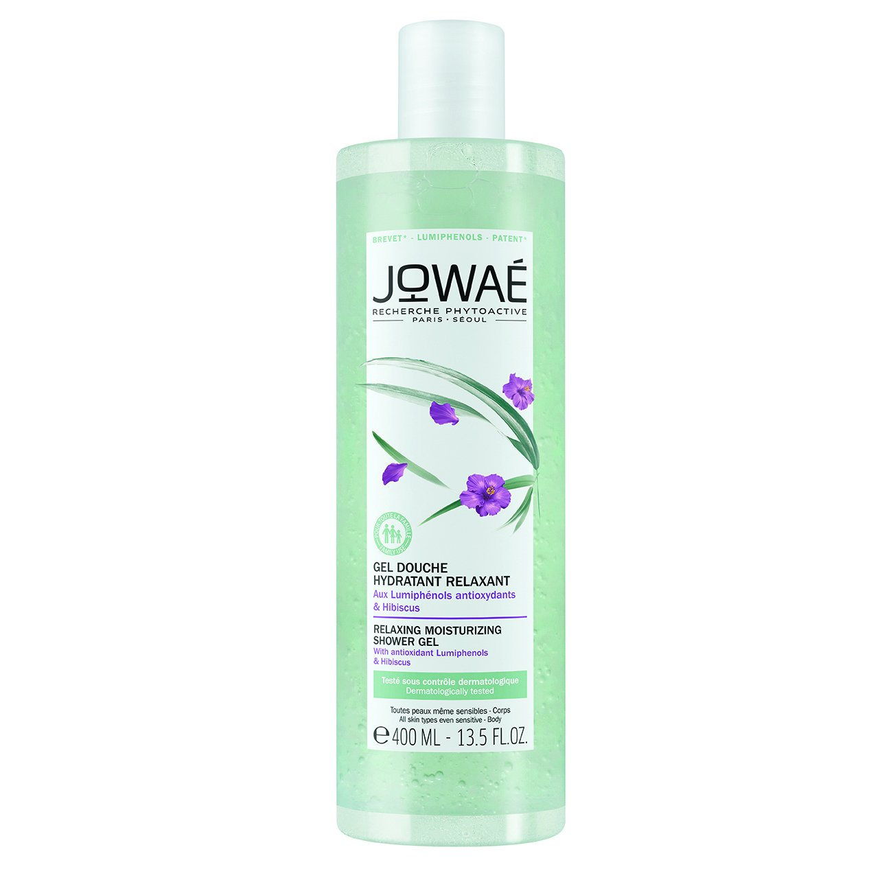 Jowae Relaxing Moisturizing Shower Gel Χαλαρωτικό Ενυδατικό Αφρόλουτρο με Αντιοξειδωτικές Φωτοφαινόλες & Ιβίσκο 400ml