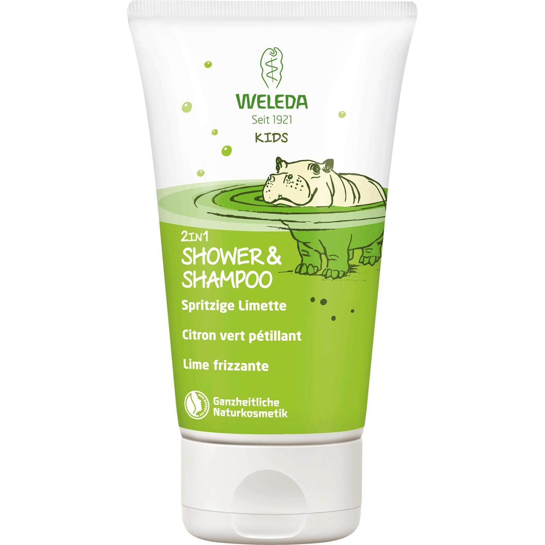 Weleda Kids 2 in 1 Shampoo & Body Wash Παιδικό Σαμπουάν & Αφρόλουτρο Μοσχολέμονο 150ml