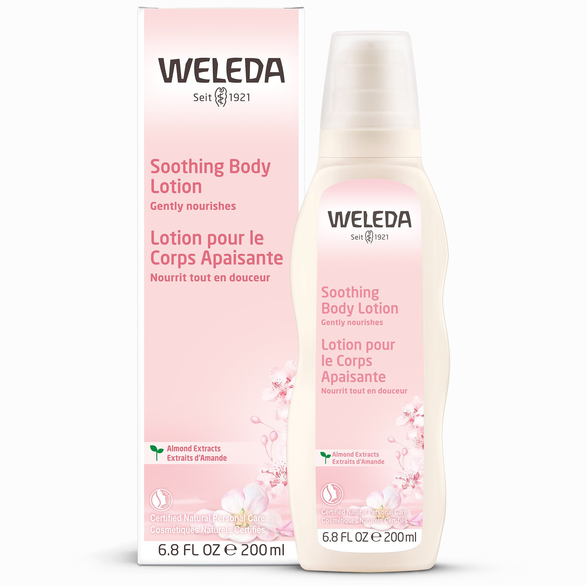Weleda Almond Calming Body Lotion for Sensitive Skin Γαλάκτωμα Σώματος με Αμυγδαλέλαιο Ιδανικό για Ευαίσθητο Δέρμα 200ml