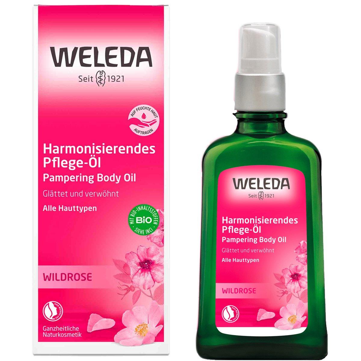 Weleda Wild Rose Pampering Body Oil Λάδι Σώματος Άγριου Τριαντάφυλλου για Εντατική Πλούσια Θρέψη 100ml