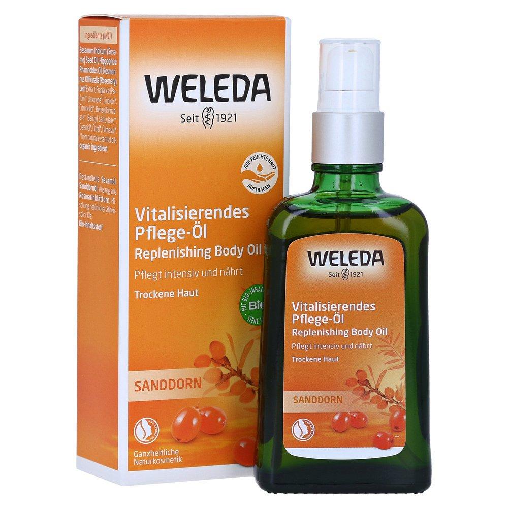 Weleda Sea Buckthorn Replenishing Body Oil for Dry Skin Λάδι Περιποίησης Σώματος με Ιπποφαές 100ml