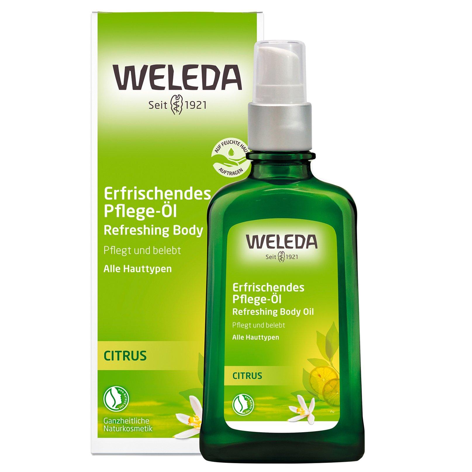 Weleda Citrus Refreshing Body Oil for All Skin Types Δροσερό Λάδι Σώματος με Κίτρο για Τόνωση & Ενυδάτωση του Δέρματος 100ml