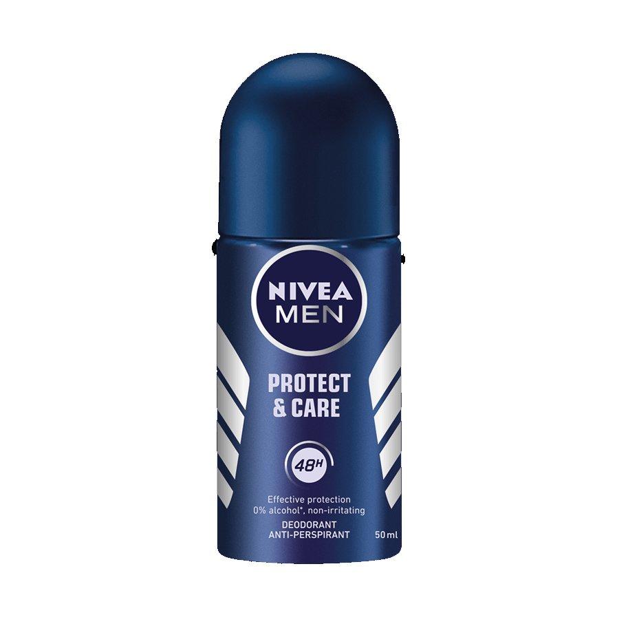 Nivea Male Protect & Care Roll on Deo Ανδρικό Αποσμητικό σε Μορφή Roll on 48ωρης Προστασία Χωρίς Ερεθισμούς 50ml