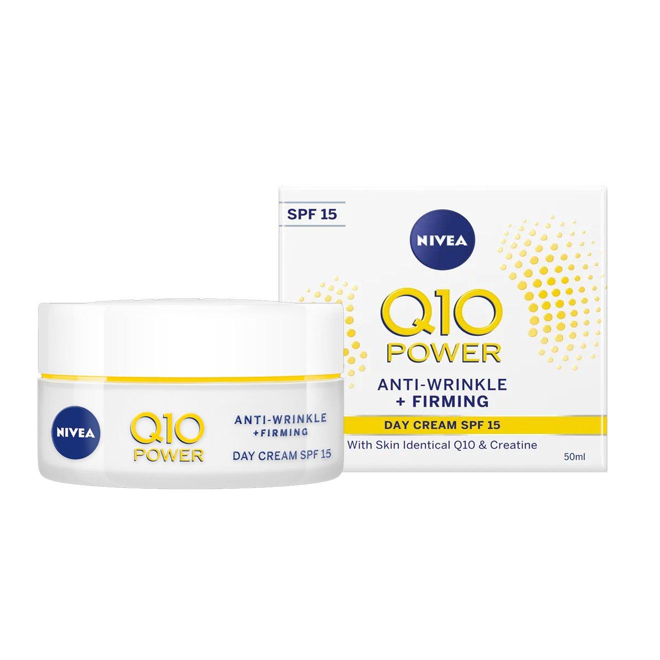 Nivea Q10 Plus Anti-Wrinkle Day Cream Spf15 Αντιρυτιδική Κρέμα Ημέρας με Αντηλιακή Προστασία, για Κάθε Τύπο Δέρματος 50ml