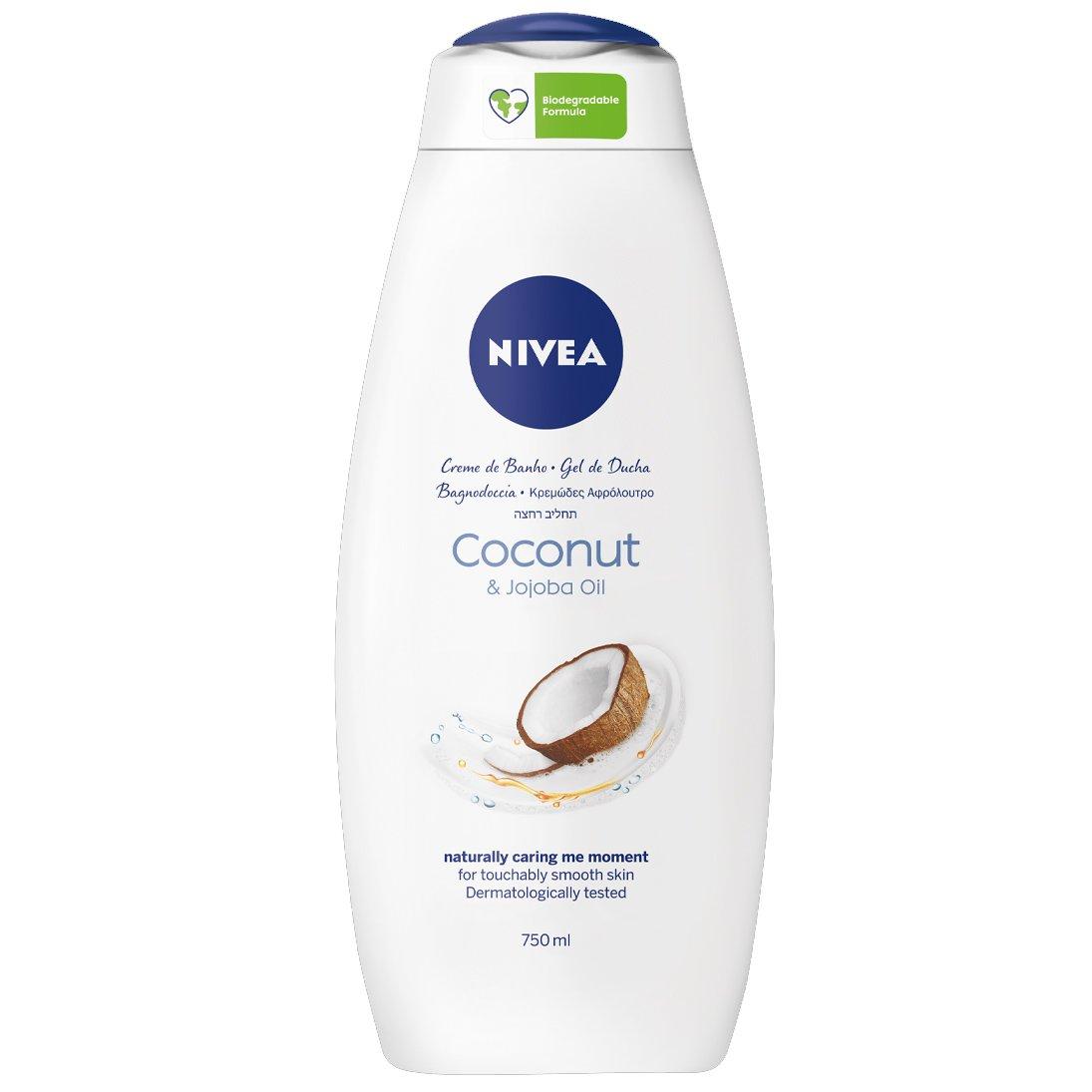 Nivea Coconut & Jojoba Oil Shower Cream Κρεμώδες Αφρόλουτρο με Λάδι Jojoba & Άρωμα Καρύδας 750ml