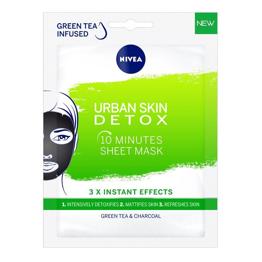Nivea Urban Skin Detox 10 Minute Sheet Mask Υφασμάτινη Μάσκα Αποτοξίνωσης 10 Λεπτών 1 Τεμάχιο