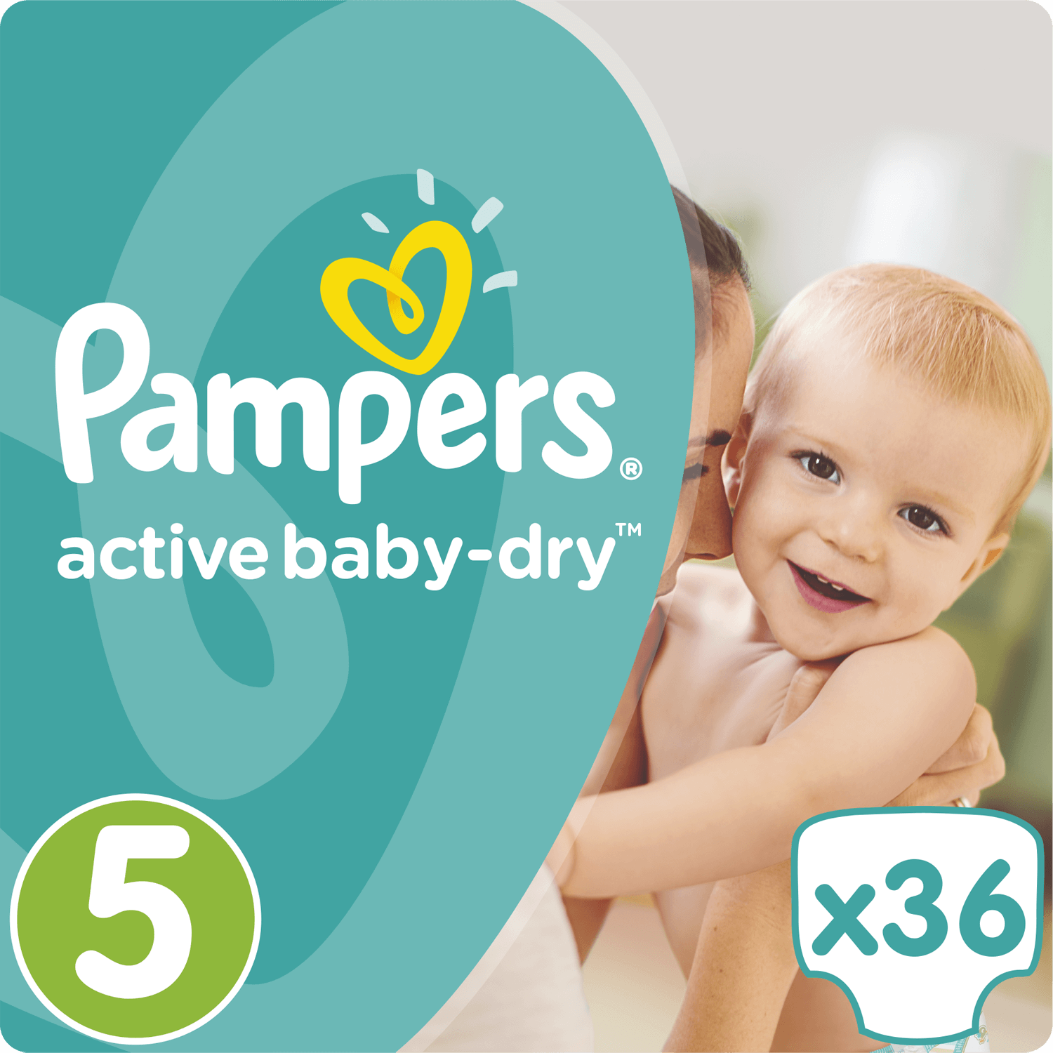 Pampers Active Baby Dry No5 (11-18kg) 36 Πάνες 19615