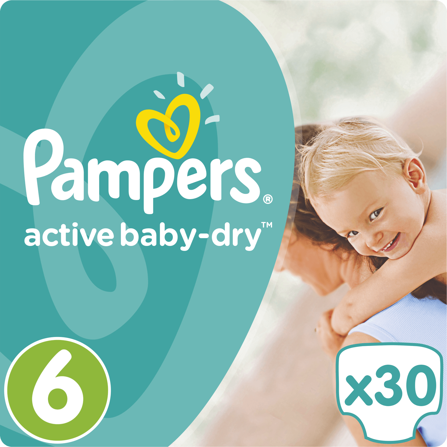 Pampers Active Baby Dry No6 (15+kg) 30 Πάνες