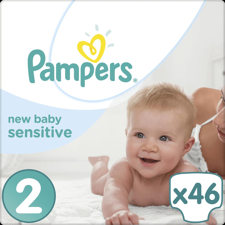 Pampers New Baby Sensitive Mini No2 (3-6kg) 46 Πάνες 19624