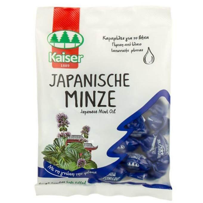 Kaiser – Japanese Mint oil Καραμέλες για τον Ερεθισμένο Λαιμό & τον Βήχα 60gr