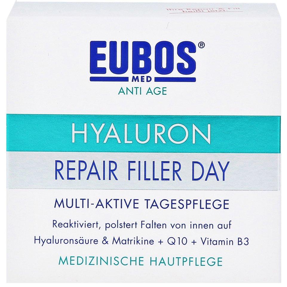 Eubos Sensitive Hyaluron Repair Filler Day Creme Κρέμα Εντατικής Φροντίδας Κατά των Ρυτίδων με Υαλουρονικό Οξύ 50ml