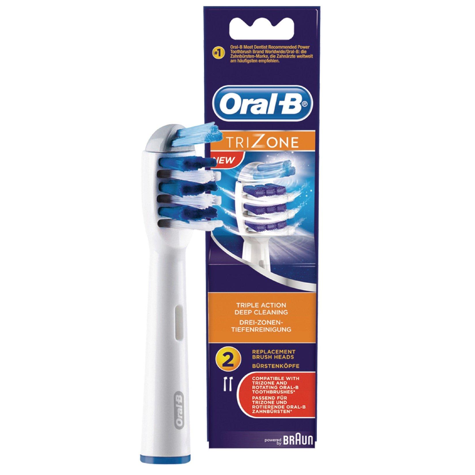 Oral-B TriZone Ανταλλακτικές Κεφαλές Ηλεκτρικής Οδοντόβουρτσας 2 Τεμάχια