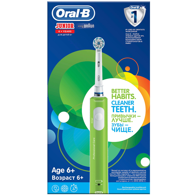 Oral-B Junior Cleaner Teeth Sensi UltraThin Επαναφορτιζόμενη Ηλεκτρική Οδοντόβουρτσα για Παιδιά από 6 Ετών 1 Τεμάχιο