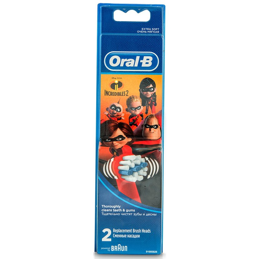 Oral-B Stages Power The Incredibles 2 Ανταλλακτικές Κεφαλές Παιδικής Οδοντόβουρτσας 2 Τεμάχια