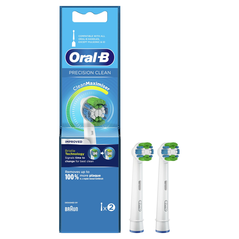 Oral-B Precision Clean Maximiser Ανταλλακτικές ΚεφαλέςΗλεκτρικής Οδοντόβουρτσας 2 Τεμάχια
