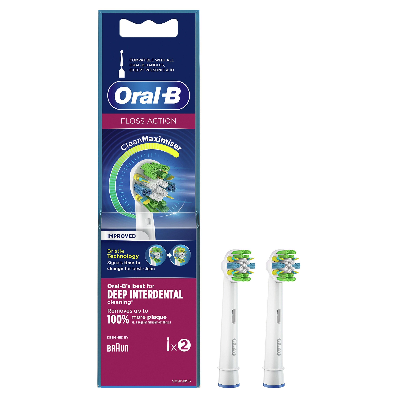 Oral-B Floss Action Clean Maximiser Ανταλλακτικές Κεφαλές Ηλεκτρικής Οδοντόβουρτσας 2 Τεμάχια