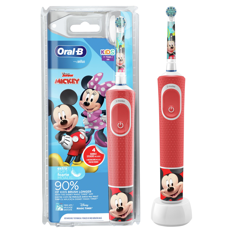 Oral-B Kids Disney Junior Mickey Ηλεκτρική Οδοντόβουρτσα για Παιδιά από 3 Ετών 1 Τεμάχιο