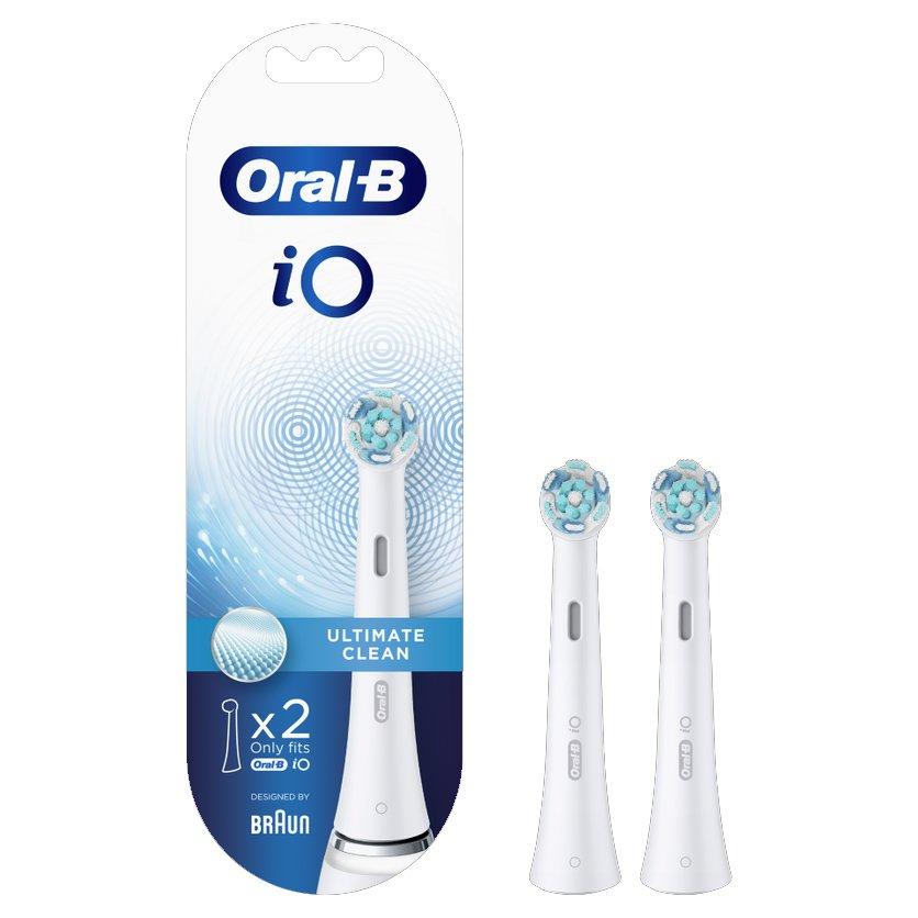 Oral-B iO Ultimate Clean Ανταλλακτικές Κεφαλές Βουρτσίσματος για Επαγγελματικό Καθαρισμό 2 Τεμάχια
