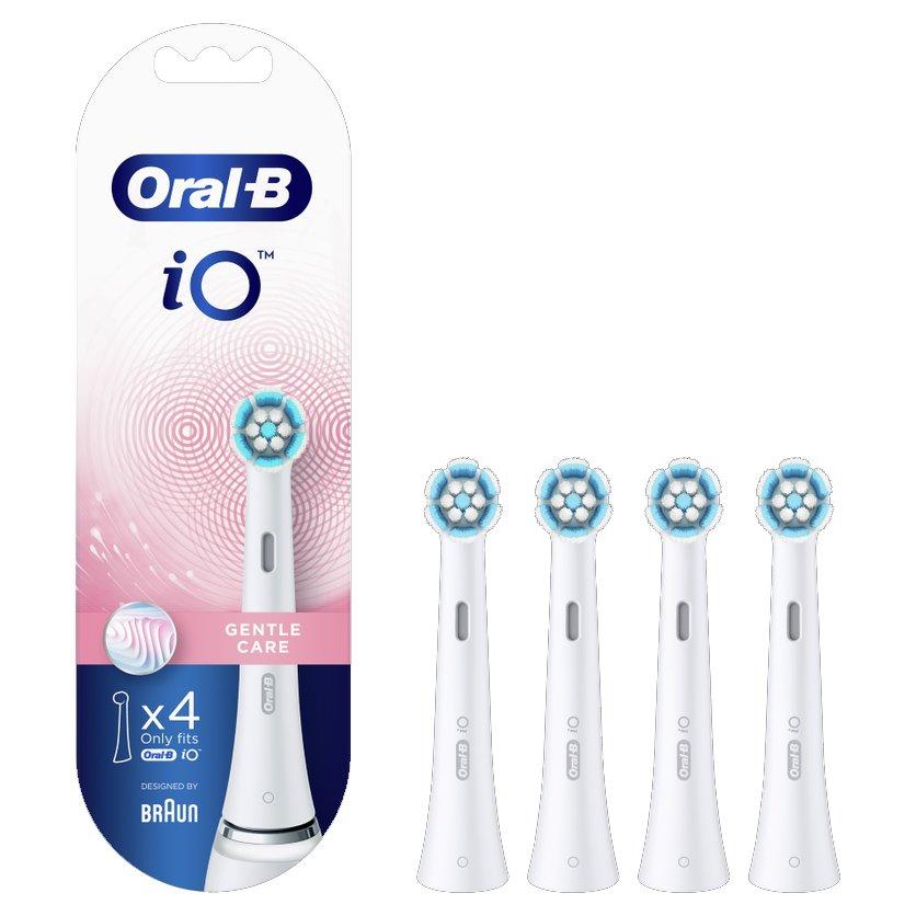 Oral-B iO Gentle Care Ανταλλακτικές Κεφαλές Βουρτσίσματος για Απαλό & Επαγγελματικό Καθαρισμό των Ευαίσθητων Δοντιών 4 Τεμάχια