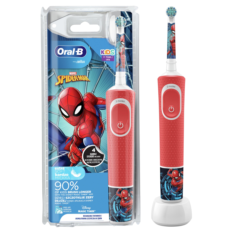 Oral-B Kids Spiderman Ηλεκτρική Οδοντόβουρτσα για Παιδιά από 3 Ετών 1 Τεμάχιο