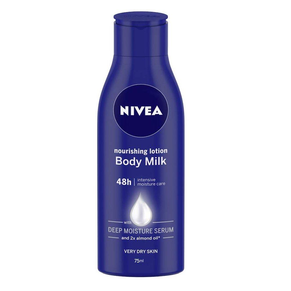 Nivea Body Nourishing Milk Mini Θρεπτικό Γαλάκτωμα Σώματος 48ωρης Βαθιάς Ενυδάτωσης & Απαλότητας 75ml