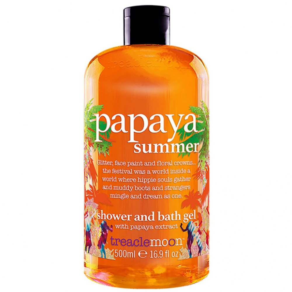 Treaclemoon Papaya Summer Shower & Bath Gel Αναζωογονητικό & Ενυδατικό Αφρόλουτρο Σώματος με Εκχύλισμα Παπάγια 500ml