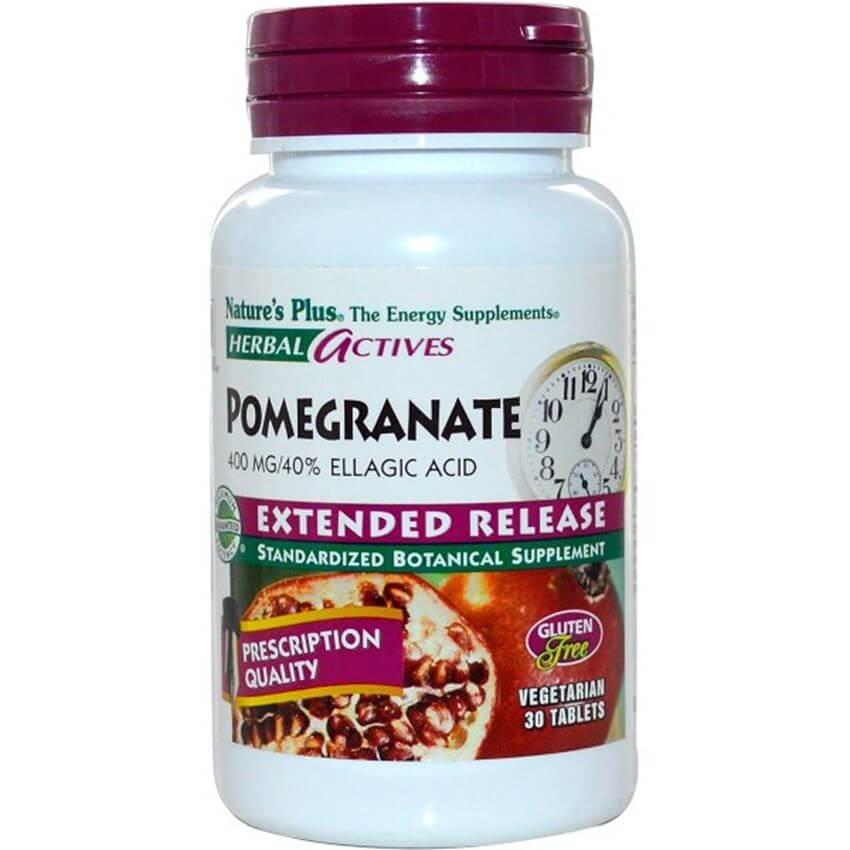 Natures Plus Pomegranate Συμπλήρωμα Διατροφής με Ρόδι για την Προστασία του ΚαρδιαγγειακούΣυστήματος400mg 30 tabs