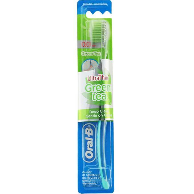 Oral-B UltraThin Green Tea 0.01mm Extra Soft Πολύ Μαλακή Οδοντόβουρτσα, 2x πιο Εύκαμπτες Άκρες για Έναν Απαλό Καθαρισμό 1τεμάχιο