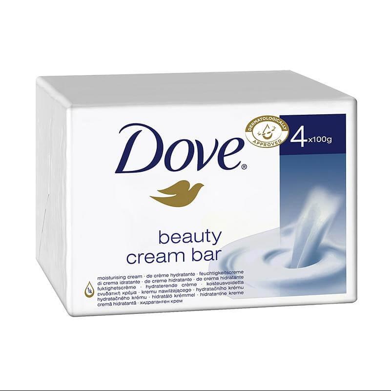Dove Beauty Cream Bar Σαπούνι Για Aπαλή Επιδερμίδα 4×100 gr