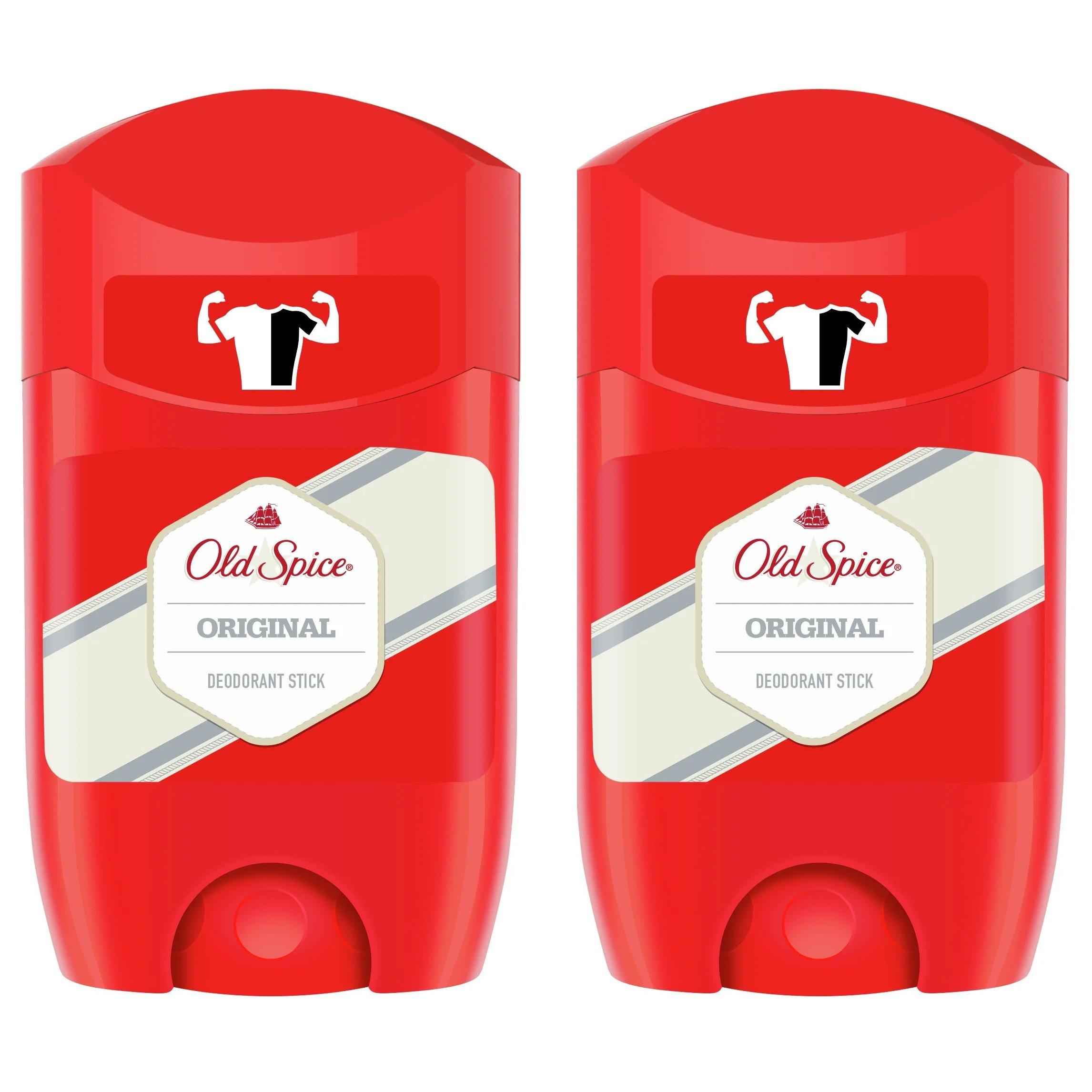 Old Spice Πακέτο Προσφοράς Original Deodorant Stick Αποσμητικό με Αναζωογονητικό και Αρρενωπό Άρωμα 2x50ml