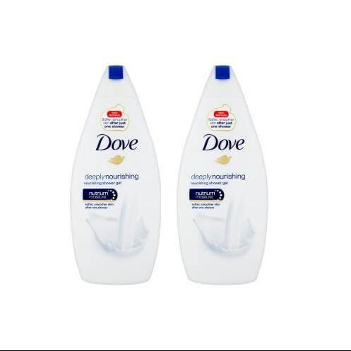 Dove Αφρόλουτρο Deeply Nourishing Για Όμορφο Δέρμα 2x500ml Πακέτο 1+1