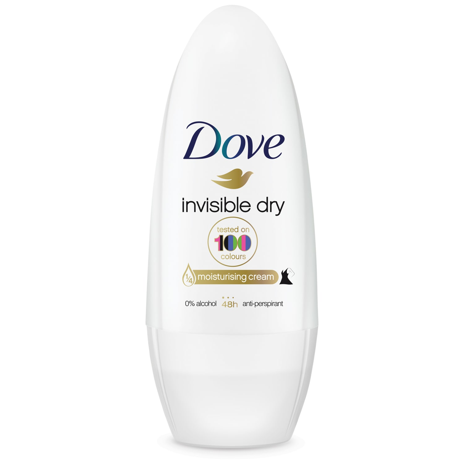 Dove Deo Roll On Invisible Dry 48h Clean Touch Αποσμητικό 48ωρης Αντιιδρωτικής Προστασίας Χωρίς Λευκά Σημάδια στα Ρούχα 50ml